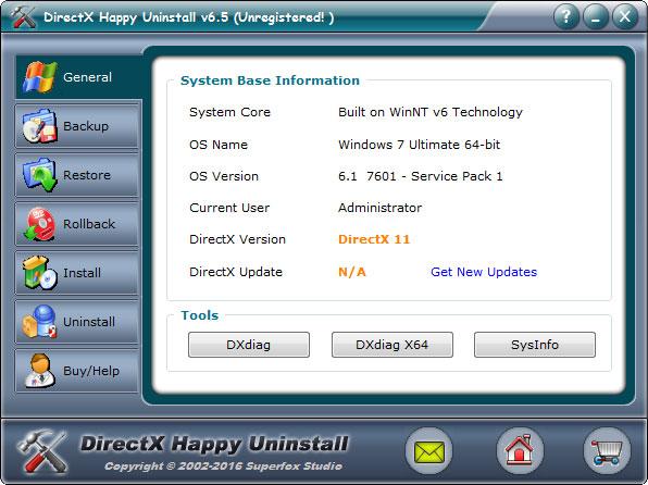 DirectX Happy Uninstall(卸载工具) V6.5