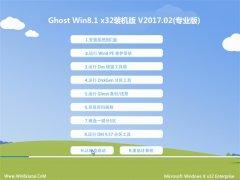 系统之家Ghost Win8.1 x32 终极装机版V201702(免激活)